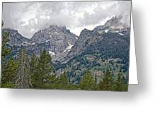 Teton Peaks Near Jenny Lake In Grand Teton National Park-wyoming- Greeting Card
