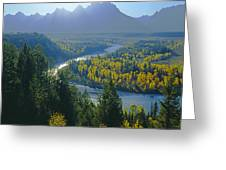2m9301-teton Range From Snake River Overlook Greeting Card