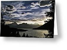 Teton Range Sunset Greeting Card