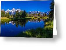 Teton Reflection Greeting Card