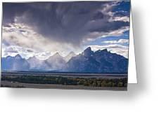 Teton Storm Greeting Card