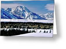 Teton Valley Winter Grand Teton National Park Greeting Card