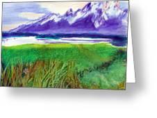 Teton View Greeting Card