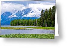 Tetons From Heron Pond In Grand Teton National Park-wyoming Greeting Card