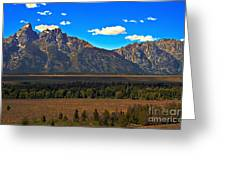 Tetons Mountians Greeting Card