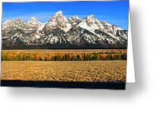 Tetons Panorama Greeting Card