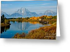 Tetons With Moose Greeting Card