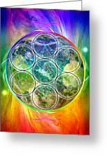 Tetra64 Polarity Earth Greeting Card
