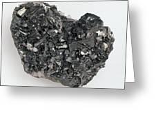 Tetrahedrite And Quartz Crystals Greeting Card