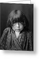 Tewa Indian Child Circa 1905 Greeting Card