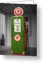 Texaco Gas Pump Greeting Card