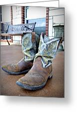 Texan Cowboy Boots Greeting Card