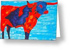Texan Longhorn Greeting Card