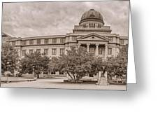 Texas A And M Academic Plaza - College Station Texas Greeting Card
