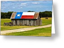 Texas Barn Flag Greeting Card