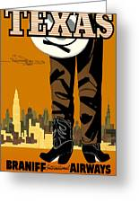 Texas Braniff Intl Airways Greeting Card
