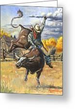 Texas Bull Rider Greeting Card by Jeff Brimley