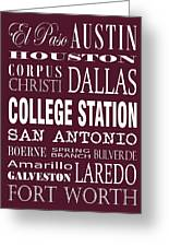 Texas Cities College Station Greeting Card