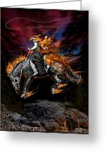 Texas Ghost Rider Greeting Card