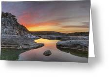 Texas Hill Country Images - Pedernales Falls February Sunrise 3  Greeting Card