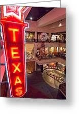Texas In Lights Greeting Card