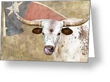 Texas Longhorn # 2 Greeting Card