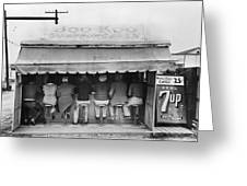 Texas Luncheonette, 1939 Greeting Card