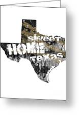 Texas Map Cool Greeting Card