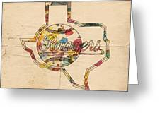 Texas Rangers Logo Vintage Greeting Card