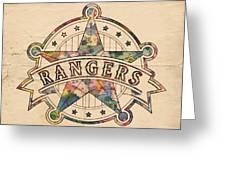 Texas Rangers Poster Art Greeting Card