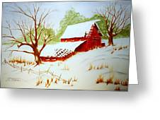 Texas Red Barn Greeting Card