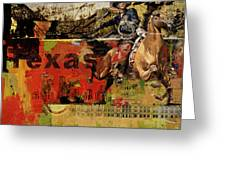 Texas Rodeo Greeting Card by Corporate Art Task Force