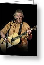 Texas Singer Songwriter Guy Clark In Concert Greeting Card