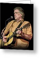 Texas Singer Songwriter Guy Clark Greeting Card