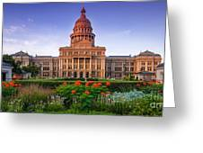 Texas State Capitol Summer Morning - Austin Texas Greeting Card