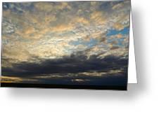Texas Storm Cloud Sunset Greeting Card