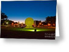 Texas Tech Seal At Night Greeting Card