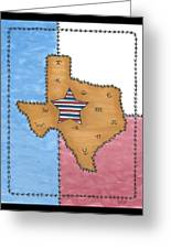 Texas Tried And True Red White And Blue Star Greeting Card