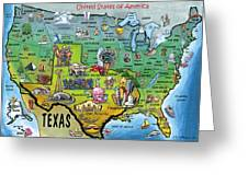 Texas Usa Greeting Card