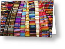 Textile Market Otavalo Ecuador Greeting Card