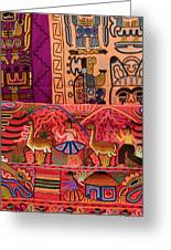 Textiles With Vibrant Colors For Sale Greeting Card