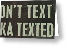 Texting Greeting Card
