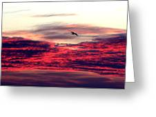 Textured Clouds Greeting Card