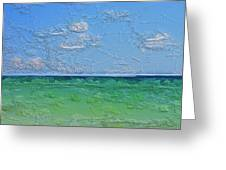Textured Beach Series 1 Of 2 Greeting Card