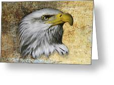 Textured Eagle  Greeting Card