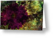 Textured Flora Greeting Card by Ankeeta Bansal