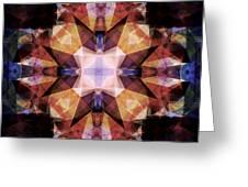 Textured Geometric Mandala Greeting Card