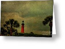 Textured Lighthouse Greeting Card
