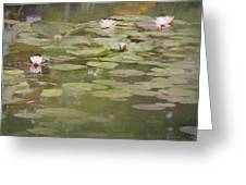 Textured Lilies Image  Greeting Card