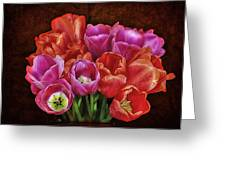 Textured Tulips Greeting Card